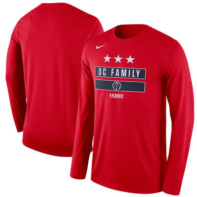Washington Wizards Nike 2018 NBA Playoffs Mantra Legend Long Sleeve T-Shirt  –Red ffabe3e94