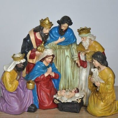 The Birth of Baby Jesus Statue Christ Figure Catholic Religious Home Decor Gift