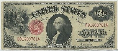 1917 US $1 United States Note - Red Seal Large Size Legal Tender Note