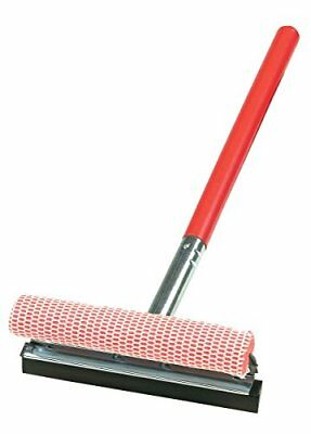 Carrand 9039R Red 10 Deluxe Metal Squeegee Head with 20 Wood Handle