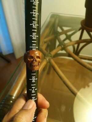 Bali Ring Skull from rosewood carved size 10 hand made