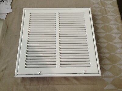 """12"""" x 12"""" Steel Return Air Filter Grille for 1"""" Filter White HVAC Duct Cover"""