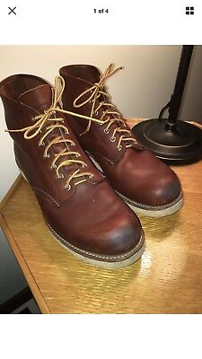 men s pair of red wing boots size 10 1 2 e with electrical hazard