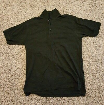mens medium 5.11 tactical polo black police swat security fire rescue
