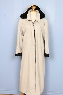 BEAUTIFUL Womens BURBERRY Hooded Single Breasted TRENCH Coat Mac 14/16