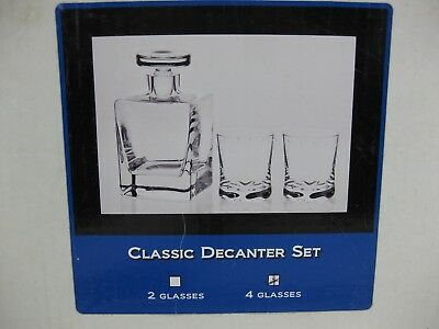 Krosno Etched Dragon Decanter & Glass Set of 4 Glasses Miller Golf of London