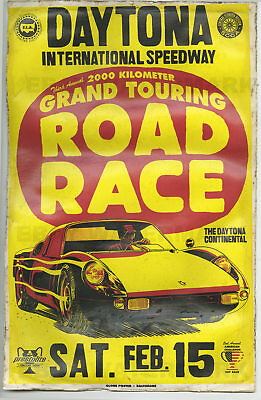 1960's Porsche 904 Race Vintage Advertising Poster 11 x 17 Daytona Beach Florida