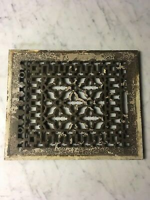 Vintage Victorian Cast Iron Floor Grille Heat Grate Vent Register Ornamental