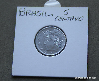 1967 Brasil 5 Centavos Circulated Lustrous #qms40