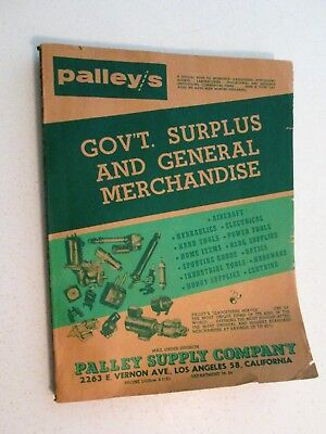 OLD Palley Supply Mail Order Catalog Government Surplus Gadget Heaven California