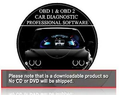 Car Diagnostic Software + ECU BHP Tuning Remapping OBD1 + OBD2 II PRO