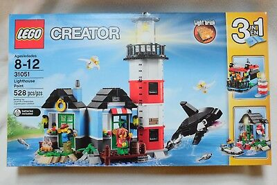 *New Sealed LEGO Creator 31051 3 in 1 LIGHTHOUSE POINT 528 PCs Retired Rare
