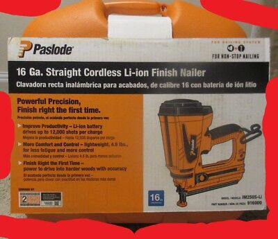 Paslode 16 Gauge Straight Cordless Finish Nailer - Model IM250S-Li - 91600 - NEW
