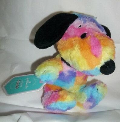 "nwt-Hallmark-Peanuts & the gang-Rainbow-Tie Dye- 7"" Plush Stuffed Snoopy"