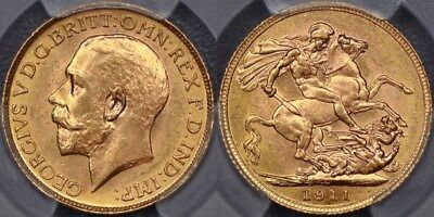 Canada, 1911 Ottawa Sovereign - PCGS MS63