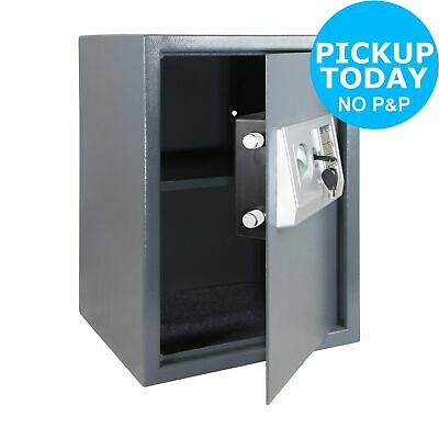 Tall Electronic Steel Safe with Shelf