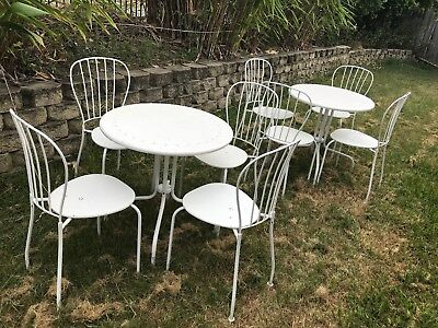 Outdoor dining tables and seats - 7 tables and 13 seats