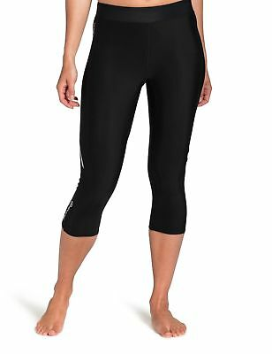 SKINS Women's A200 Thermal Compression 3/4 Capri Tights Black/Black X-Large New