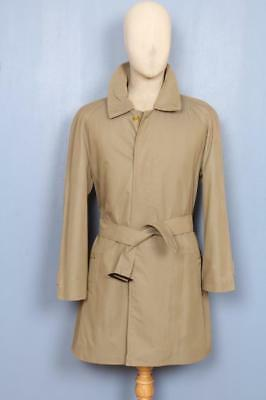 SUPERB Mens BURBERRY Single Breasted Short TRENCH Coat Mac Olive Size 38/40