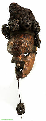 Salampasu Mask Copper-covered Congo African Art SALE WAS $450
