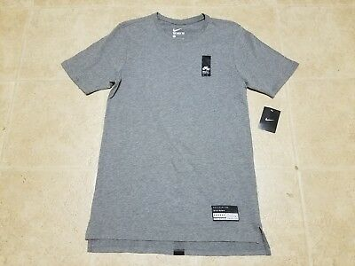 66278853675 NEW NIKE AIR BRAND MARK 1 GREY T SHIRT ELONGATED 806960-091 Size S SMALL