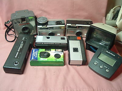 Lot of 7 CAMERAS ( 4 INSTAMATIC CAMERA'S  ) PLUS EXTRAS