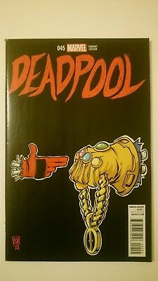 Deadpool # 45  Nm  1:50  Thanos Run The Jewels Skottie Young Variant  2015  Htf