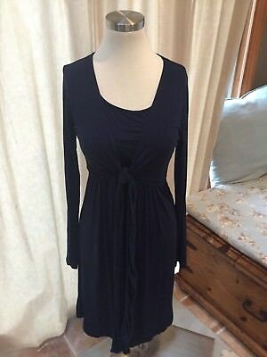 NEW JoJo Maman Bebe Navy Blue Maternity Nursing Dress Stretch M