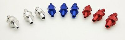 6,8,10,12 MM ALUMINIUM Non return check ONE WAY VALVE petrol Fuel OIL- color