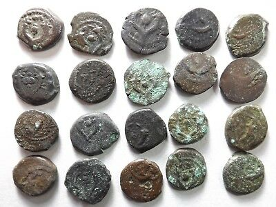 Lot of 20 Mostly Average Quality Judaean - Maccabean Coins; 40.2 Grams!