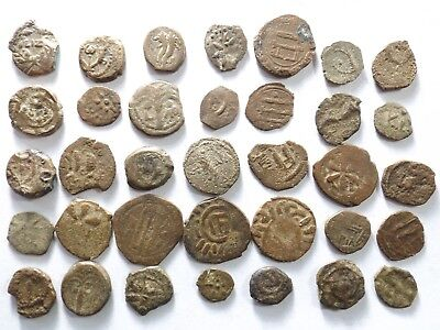 Lot of 35 Mostly Lower Quality Judaean Coins; 52.6 Grams!