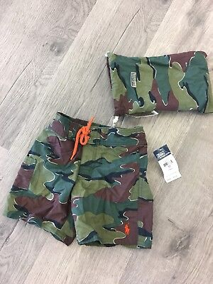 NEW Vintage Ralph Lauren Polo Swim Trunks SIZE 3T Boys NWT toddler shorts kids