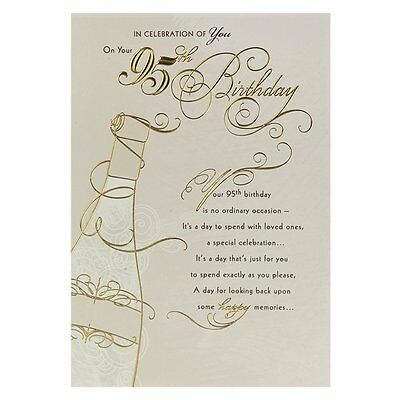 Hallmark 95th Birthday Greeting Card Happy Memories Celebration Age 95 New  Today