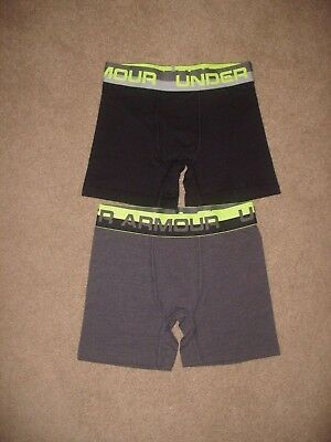 NWOT Lot of 2 Boys Under Armour Charged Cotton Stretch Boxerjocks - Youth Small