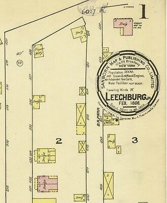 Leechburg, Pennsylvania~Sanborn Map©~44 maps on CD in  color~1886 to 1927