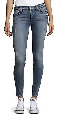 *nwt* True Religion Halle Super Skinny Distress Jeans Sz 24 $69.99 Retail $199