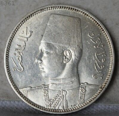 "1939 *Silver* Egypt 5 Plastres ""UNC"" *Free S/H After 1st Item*"