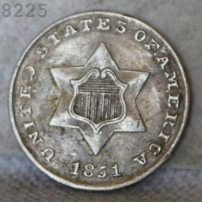 "1851 Three-Cent Piece (Trime) ""XF"" *Free S/H After 1st Item*"