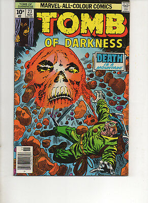 Tomb Of Darkness 23 Very Fine 1976 Marvel Bronze Age Comic