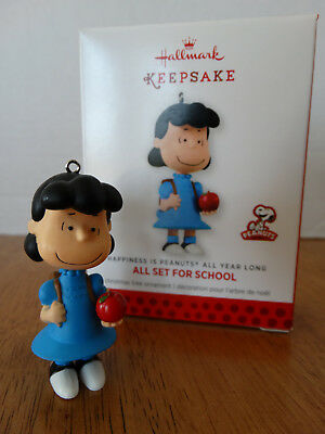 2013 Hallmark Ornament HAPPINESS IS PEANUTS ALL YEAR LONG #2 ~All Set for School