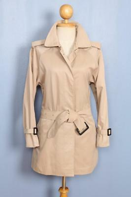 BEAUTIFUL Womens BURBERRY Single Breasted Short TRENCH Coat Mac 8/10 Small