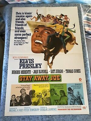 "Stay Away, Joe 1968 Original 1 Sheet Movie Poster 27""x41"" (F) Elvis Presley"