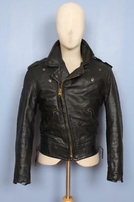 Superb Vtg 50s CAL-LEATHER California HORSEHIDE Leather CHP Motorcycle Jacket