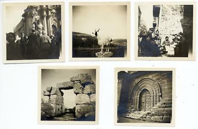 Siracusa Sicily and surroundings Lot five small vintage silver photo 1900c S552