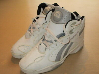 3233656268e Vintage Reebok Above The Rim Pump Basketball Shoes White Grey Black Mens 11  OG
