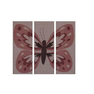 CoCaLo Baby 3827 Emilia Pink Canvas Baby Girl Nursery Butterfly Wall Decor BHFO