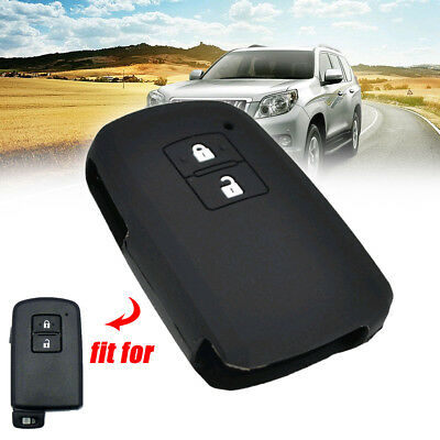 Silicone Key Case Cover For Toyota Auris Camry RAV4 Yaris Remote Fob two Button