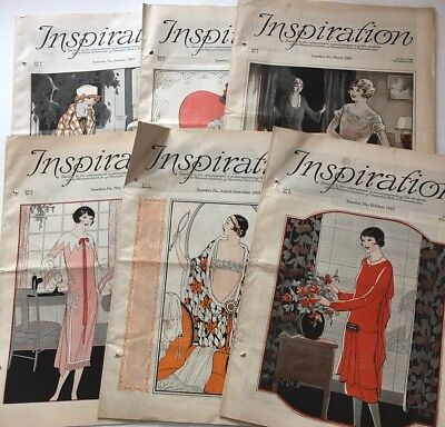 1925's Inspiration Magazine Woman's Institute Vintage Fashion Millinery Lot 6