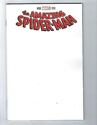 Amazing Spider-Man # 800 Blank Variant Cover NM Pre Sale 05/30