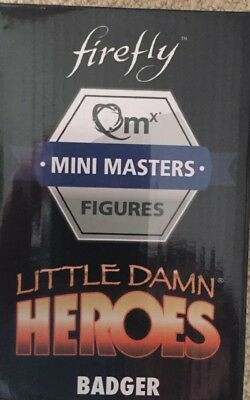 Firefly Serenity Badger QMx Mini Masters Figure Loot Crate Cargo new sealed